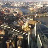 London up high. Overhead view of London river Thames st paul cathedral Stock Images
