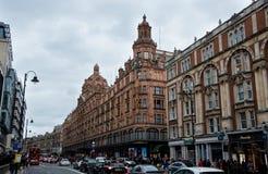 London urban landscape near Harrods retail store Royalty Free Stock Photography
