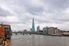 London urban view from millennium bridge Stock Image