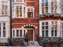 London utsmyckat gammalt radhus Arkivbilder