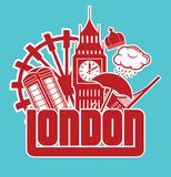 London. Vector illustration of the London Royalty Free Stock Images