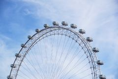 LONDON, VEREINIGTES KÖNIGREICH - 6 London-Auge ist das höchste Ferris lizenzfreies stockbild