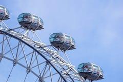 LONDON, VEREINIGTES KÖNIGREICH - 6 London-Auge ist das höchste Ferris lizenzfreie stockfotografie