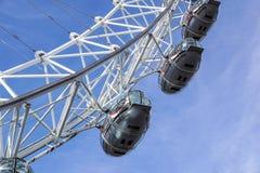 LONDON, VEREINIGTES KÖNIGREICH - 6 London-Auge ist das höchste Ferris lizenzfreie stockbilder