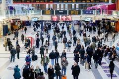 LONDON, VEREINIGTES KÖNIGREICH - 17. JANUAR 2016: Liverpool-Straßen-Station Lizenzfreies Stockbild