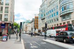 LONDON, VEREINIGTES KÖNIGREICH - 21. Juni 2016 Schöne Straßenansicht von Stockfoto