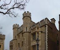 LONDON, VEREINIGTES KÖNIGREICH - 24. NOVEMBER 2018: Tower von London Das Fusilier-Museum stockbild