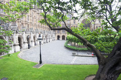 London Victoria Garden Westminster. London Victoria Garden at the House of Lords end of the Palace of Westminster Stock Images