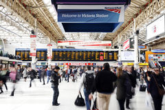 London Victoria Station Stock Image
