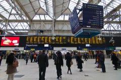 London Victoria Station royaltyfria foton