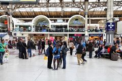 London Victoria Station Lizenzfreies Stockfoto