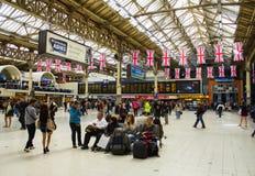 London Victoria station Royalty Free Stock Photos