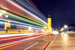 London vid natt Royaltyfria Bilder