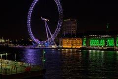 London vid natt Arkivfoto