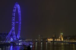 London View. Magnificent view taking in the London Eye and Houses of Parliament Stock Photo