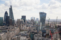 London. View on business modern district Stock Photo