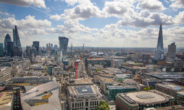 London. View on business modern district Stock Photography