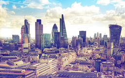 London. View on business modern district. Royalty Free Stock Images