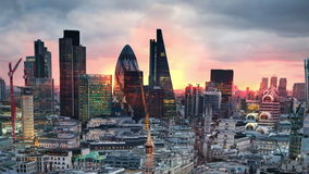 London. View on business modern district stock video