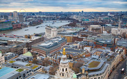 London view. City of London one of the leading centres of global finance. View from St. Paul cathedral Royalty Free Stock Photos