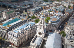 London view. City of London one of the leading centres of global finance. View from St. Paul cathedral Royalty Free Stock Image