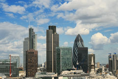 London View From St. Paul`s Cathedral. Royalty Free Stock Photo