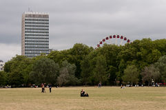 London view from Hyde Park Royalty Free Stock Photos