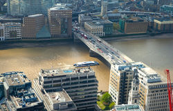 London view includes River Thames, London bridge. Royalty Free Stock Photos