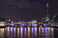 London View from the Millennium Bridge Royalty Free Stock Photo