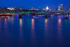 London, view over Thames towards Stock Image