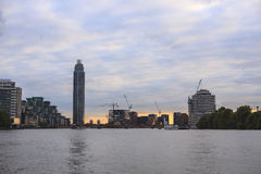 London view with the St George Wharf Tower Stock Images