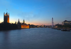 London view at sunset Royalty Free Stock Photo