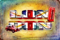 London vintage art design illustration Stock Image