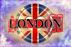 London vintage art design illustration Royalty Free Stock Photography