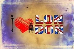 London vintage art design illustration Royalty Free Stock Images