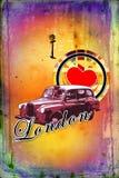 London vintage art design illustration Royalty Free Stock Image