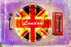 London vintage art design illustration Stock Photo