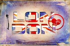 London vintage art design illustration Stock Images