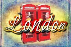London vintage art design illustration Stock Photos