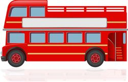 Red London Vintage Bus Tour stock illustration