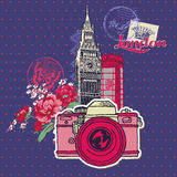 London Vintage Card Royalty Free Stock Photography