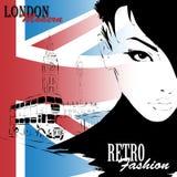 London vintage grunge poster Stock Photo