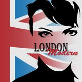 London vintage grunge poster Stock Photos