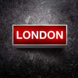 London Vintage light display Royalty Free Stock Images
