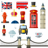 London vintage retro icons royalty free illustration