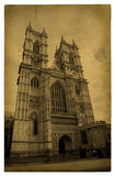 London. Vintage Westminster Abbey. Old grunge photography Royalty Free Stock Photo