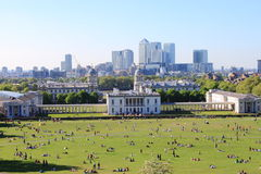 London vom Greenwich-Hügel Stockfotos