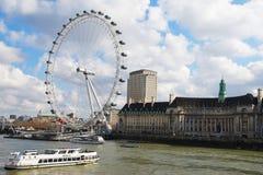 London von der Themse Stockfoto