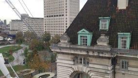 London von oben stock video
