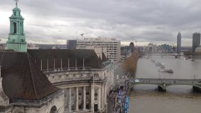 London von oben genanntem und von Themse stock video footage